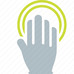 double, finger, gesture, hand, tap, touch icon