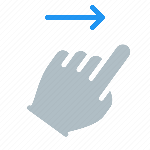 Finger, gesture, hand, right, swipe, touch icon - Download on Iconfinder