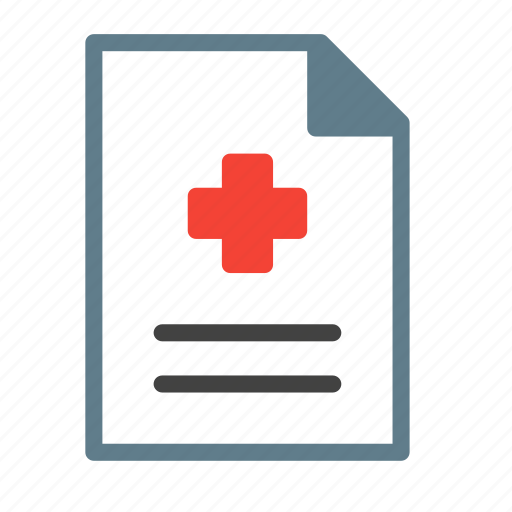 cross, file, health, medical, pulse, report icon