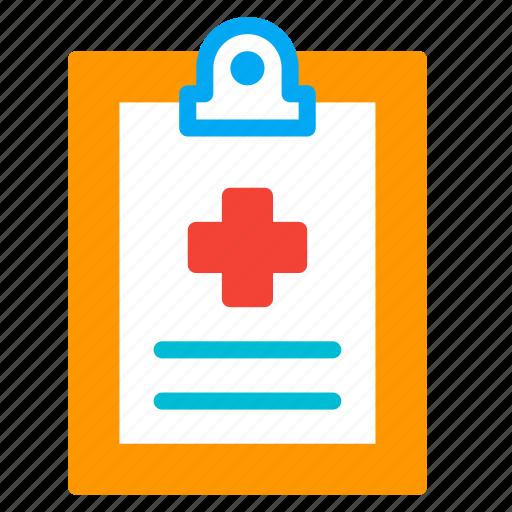 clipboard, cross, file, health, medical, pulse, report icon
