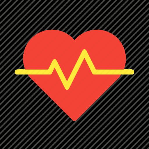 health, heart, medical, pulse, surge icon
