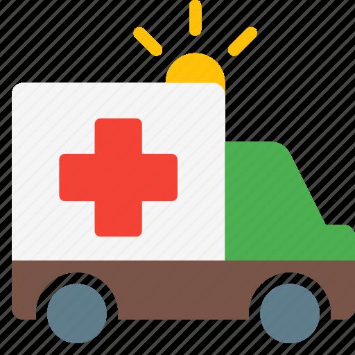 ambulance, emergency, health, hospital, truck, vehicle icon
