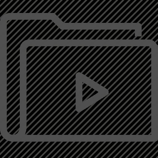 cinema, computer, film, folder, media, movie, video icon