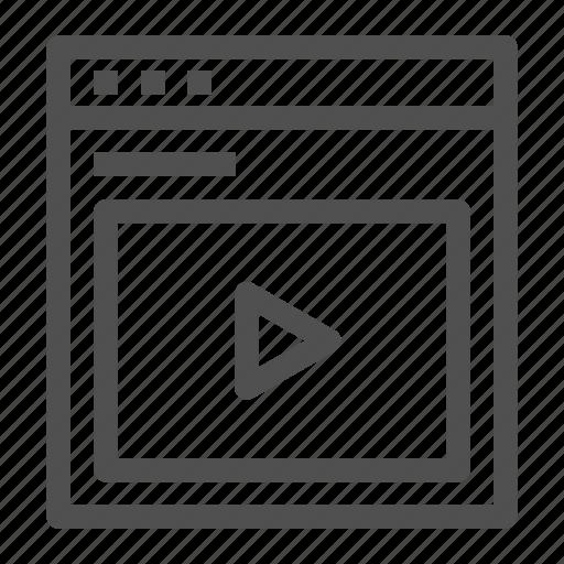 browser, entertainment, internet, stream, video, web, youtube icon