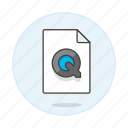 files, format, quicktime, video icon