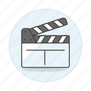 clapperboard, film, filmmaking, movies, production, slate, video icon