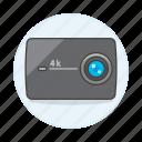 video, cam, actioncam, camera, resolution, sensor icon