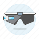 ar, augmented, camera, glasses, reality, smart, video icon
