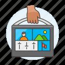 2, briefcase, editing, editor, media, portable, producer, video icon