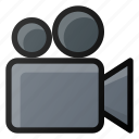 camera, movie, video