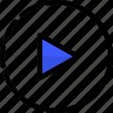 slowmotion, movie, video, film, recording icon