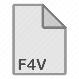 extension, f4v, file, format, hovytech, type, video icon