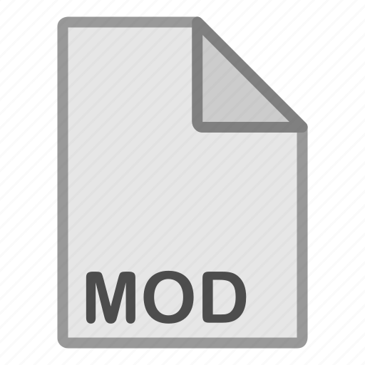 extension, file, format, hovytech, mod, type, video icon