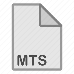 extension, file, format, hovytech, mts, type, video icon