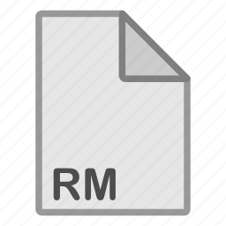 extension, file, format, hovytech, rm, type, video icon