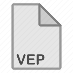extension, file, format, hovytech, type, vep, video icon