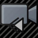 backward, camera, movie, video, film, clip