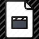 clip, file, movie, video, film