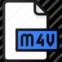 m4v, file, movie, video, film, clip