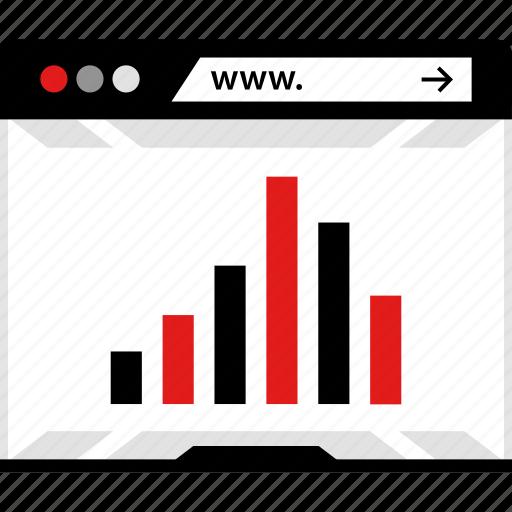 analytics, analyze, browser, data, online, web, youtube icon