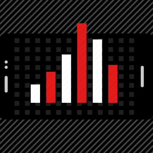 analytics, chart, computer, data, landscape, online, web icon