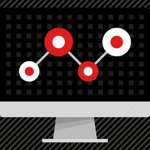 analytics, computer, data, graph, report, share, web icon