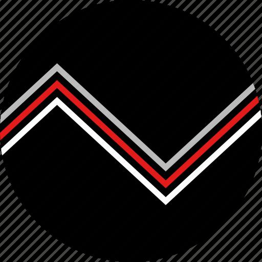 analytics, data, sound icon