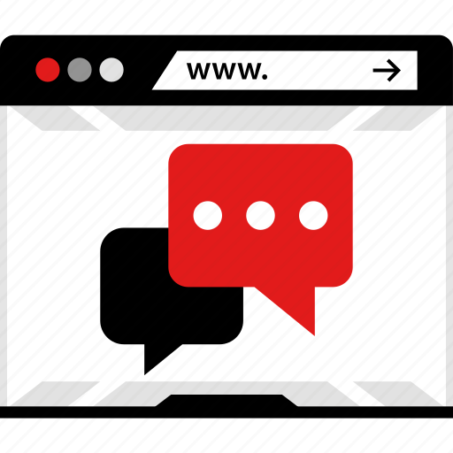 chat, comments, notification, online, video, web, youtube icon