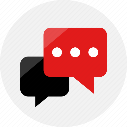 chat, conversation, notification, sms, talking, youtube icon