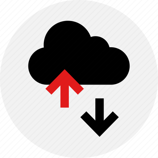 activity, arrow, cloud, down, up, youtube icon