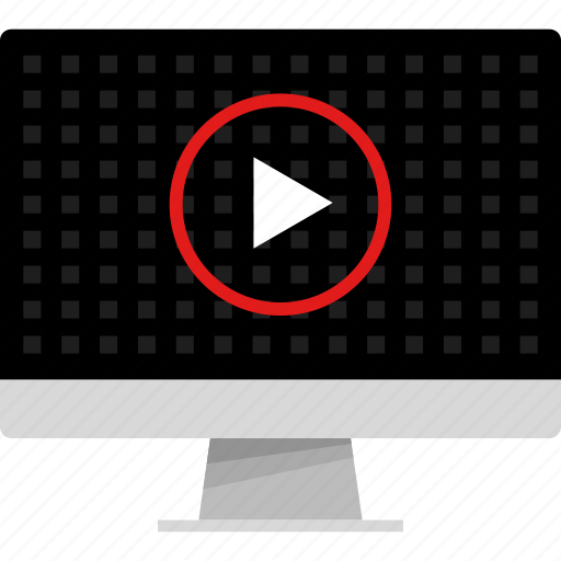 computer, media, music, play, vdieo, web icon