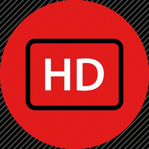 hd, high, quality, resolution icon