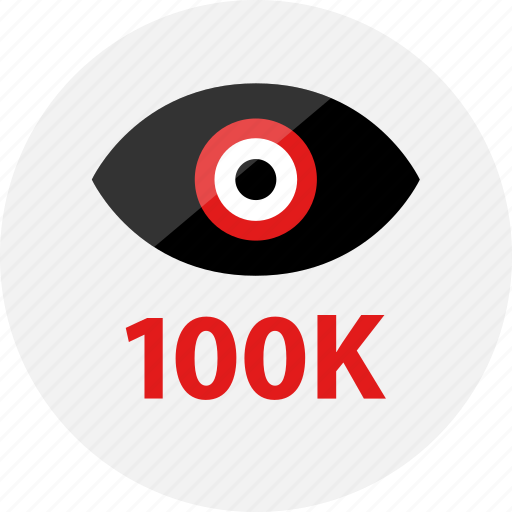 eye, hundred, k, look, one, views icon