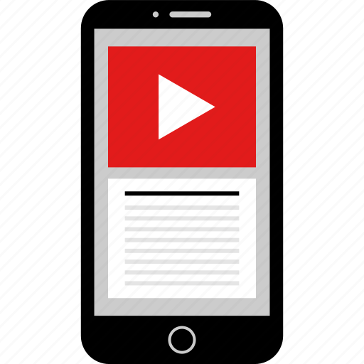 phone, play, tube, video, wireframes, youtube icon