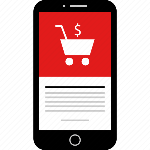 cart, mobile, phone, shop, shopping, wireframes icon