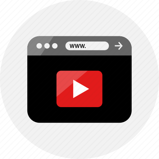 browser, media, now, play, sign, small, video icon