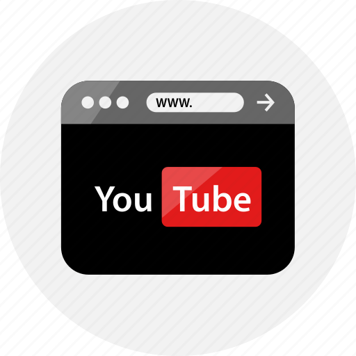 browser, homepage, page, play, small, video, youtube icon