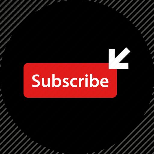 arrow, click, subscribe icon