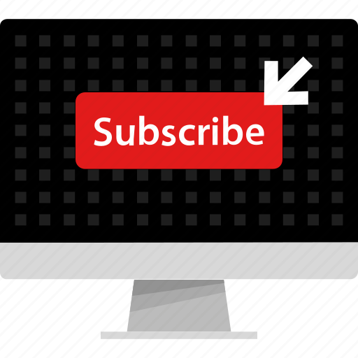 arrow, channel, click, computer, now, subscribe, web icon
