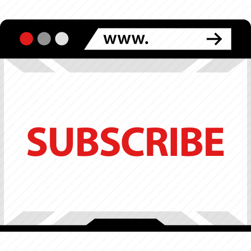 now, online, sign, subscribe, video, web, youtube icon