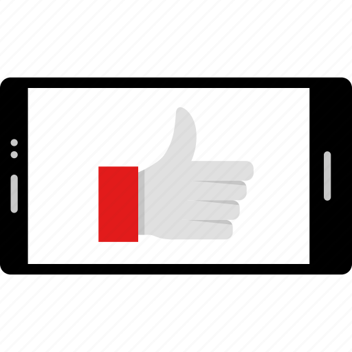 cell, good, online, phone, thumbs, up, web icon