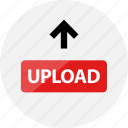 arrow, media, up, upload, video icon