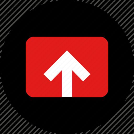 arrow, upload, video icon
