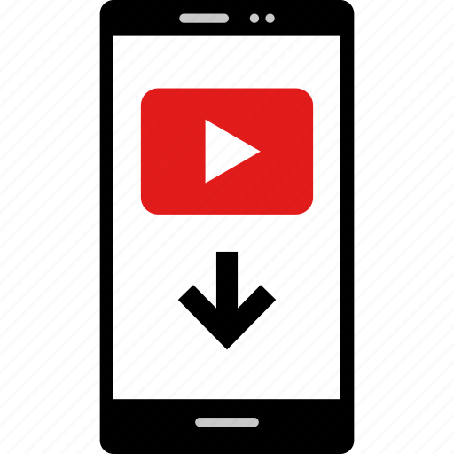 cell, download, online, stream, web, youtube icon