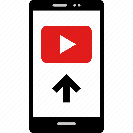 arrow, online, up, video, web, youtube icon