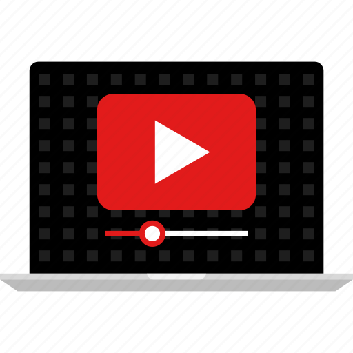 computer, laptop, music, online, video, web, youtube icon