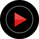 now, play, sign, youtube icon