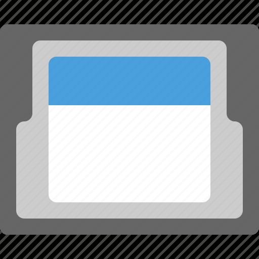 card, folder icon