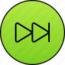 arrow, audio, forward, next, player, right, video icon