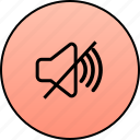 audio, delete, music, mute, remove, sound, speaker icon